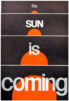 """freakyfauna: """" The Sun is Coming. From the 1965 Penrose Annual. """""""