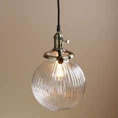 BRONZE VINTAGE INDUSTRIAL PENDANT LAMP RETRO GLASS GLOBE SHADE CEILING LIGHTING…