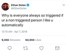 i'm a non triggered person.please love me Ethan And Grayson Dolan, Ethan Dolan, Like Me, Love You, My Love, Dolan Twin Quotes, Please Love Me, Make Happy, I Cant Even