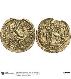 Sueben: Pseudoimperial Münze 411-450 Land: Portugal (Land) Nominal: Solidus, Material: Gold, Druckverfahren: geprägt Gewicht: 3,8 g Durchmesser: 22 mm