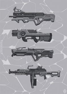 Machineguns, Eugene Ermak on ArtStation at https://www.artstation.com/artwork/O3LKK
