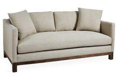 """Cara 75"""" Linen Sofa, Oatmeal"""