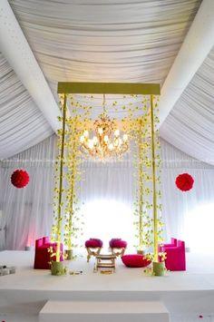 Soma Sengupta Indian Wedding Decorations- Modern Minimalist Mandap!                                                                                                                                                                                 More