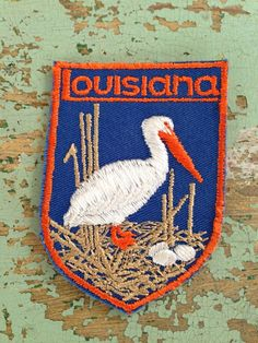 Lousiana Vintage Travel Patch by Voyager by HeydayRetroMart, $4.00