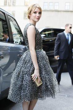 派手な印象のレオパード柄も、ドレスになればこんなに上品に! #eruca