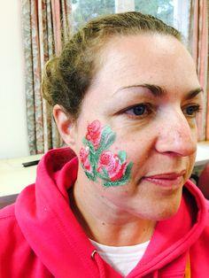 Roses facepaint