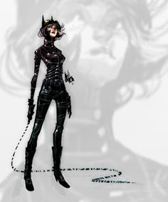 Fashion and Action: Catwoman Restyled - Alternate Look Costume Fan Art