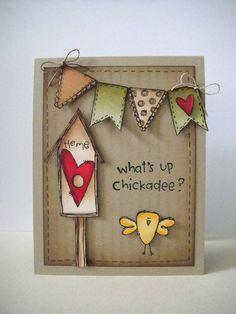 Donna Mikasa - Red Birdhouse Card