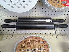 """""""Necessity is the mother of invention"""" with odd-shaped or unusual items. Here simple All Wire Pegboard Display Hooks do an… Pegboard Display, Rolling Pins, Rolls, Retail, Twin, Humor, Buns, Humour, Bread Rolls"""