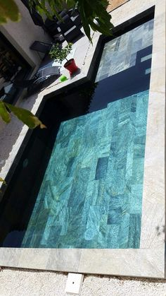 Carrelage Piscine en Pierre naturelle quartzite grand carreaux 30x60cm