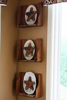 I need this display...and to make those yardstick stars!
