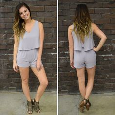 The fit of this lavender romper is super cute! - $45 #springfashion #spring  #fashionista #shoplocal #aldm #apricotlaneboutique #apricotlanedesmoines #shopaldm #desmoines #valleywestmall #fashion #apricotlane #newarrival  #shopalb  #ootd #westdesmoines  #shopapricotlaneboutiquedesmoines #ontrend #romper #lavender