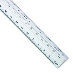 Staedtler Triangular Scale Plastic Engineers Ruler, 12 inch, White w/Colored Grooves
