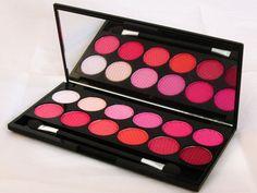 sleek good girl palette 04 Eye Palette, Eyeshadow Palette, Shimmer Eyeshadow, Red Eyes, Cool Girl, Hair Beauty, Blush, Make Up, Image