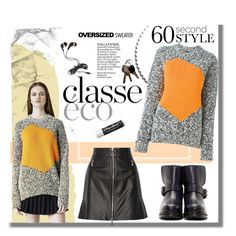 """60 Second Style"" by hellodollface ❤ liked on Polyvore featuring McQ by Alexander McQueen, Forever 21, Chapstick, oversizedsweater and 60secondstyle"