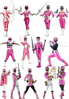 The pink power rangers Power Rangers Movie 2017, Pink Power Rangers, Pink Ranger Kimberly, Power Rengers, Power Rangers Samurai, Fox Kids, Green Ranger, Hero Time, Mighty Morphin Power Rangers