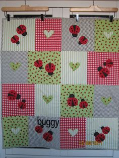 Ladybug quilt.