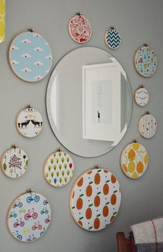 Fabric Embroidery Hoop Wall Art Inspiration