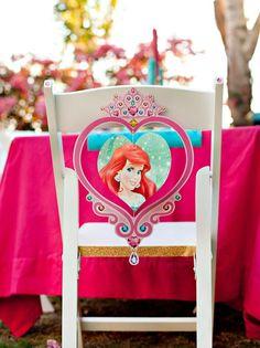 Mermaid birthday party chair ariel