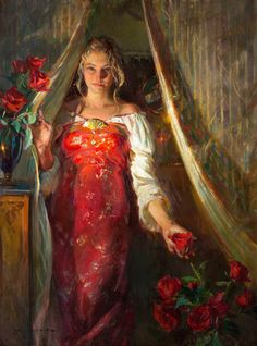 Crimson and Rose by Daniel F. Gerhartz