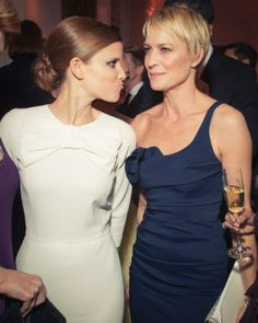"""House of Cards"" co-stars Kate Mara and Robin Wright"