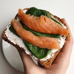 This with salmon is so good. Healthy Breakfast Recipes, Healthy Snacks, Healthy Eating, Healthy Recipes, Clean Eating, Think Food, I Love Food, Good Food, Food Goals