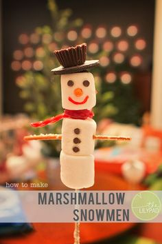 The Lilypad Marshmallow Snowman Tutorial » The Lilypad