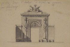 Creator Formerly attributed to Anonymous, French, 18th century Claude Nicolas Ledoux (French, Dormans 1736-1806 Paris) Title Portal of the Hôtel d'Uzès by Ledoux Work Type Drawing Drawings Date 18th century Material Pen and gray ink, brush and gray wash Measurements 2 7/8 x 4 5/16 in. (7.3 x 11.0 cm) Credit Line The Metropolitan Museum of Art Gift of Mr. and Mrs. Charles Wrightsman, 1982 Portal, Ledoux, Maker Culture, Classic Image, Metropolitan Museum, 18th Century, Art History, The Dreamers