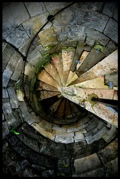 Architectural ammonite - Spiral staircase at Cliffords Tower, York