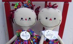 Autism Awareness handmade cloth dolls Boy and by SugarAndSpice, $54.00