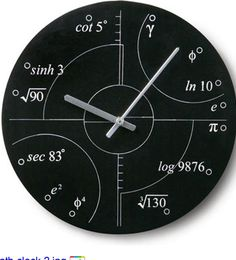 Math clock? obsessed