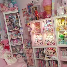 Pretty kawaii decor ideas on a budget. Dream Bedroom, Girls Bedroom, Bedroom Decor, Bedrooms, Kawaii Shop, Kawaii Cute, Kawaii Stuff, My New Room, My Room