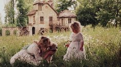 I want a daughter with little blonde ringlets who speaks french. Thanks. And I do plan on frolicking with her and baby animals.