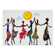 Afrikanischer Lob-Tanz Posterdrucke