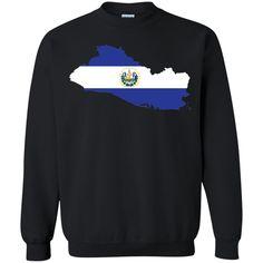 El Salvador flag -01 Printed Crewneck Pullover Sweatshirt 8 oz