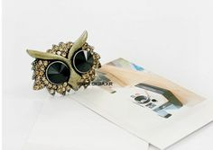 Vintage Owl Rhinestone Ring on BuyTrends.com, only price $4.20