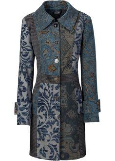 Auffallender Mantel im Jacquard-Design - blau multi Gehrock, Farbig, Model  Baju Batik 1c060142b8