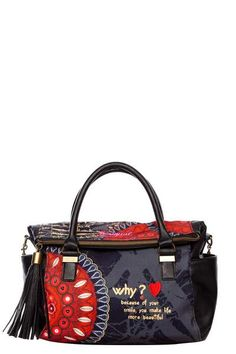 This bag includes lots of Desigual elements in an understated way. Isn't this Liberty Bolas Rojas bag fantastic