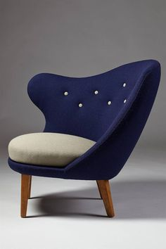 Arne Norell; 'Thumb' Chair, 1940s.
