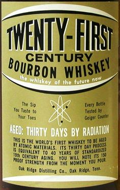 "Radium bourbon - ""The sip you taste to your toes"""