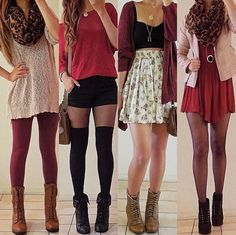 Burgundy red theme | teen outfits | spring outfits | cute outfits |