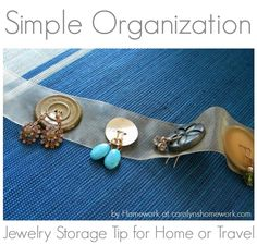 Earring Jewelry Button Organization: Storage / Travel Tip Idea