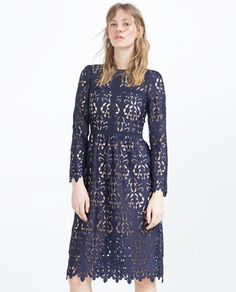 LACE DRESS-Midi-DRESSES-WOMAN   ZARA Croatia