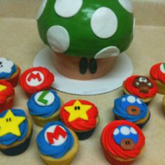 Super Mario Brothers Cake  (Lori Culbertson totally thought of your boys on this one!)