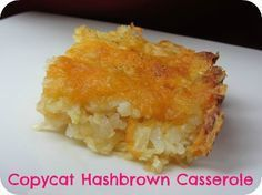 Copycat Cracker Barrel Hashbrown My review: I have made this for years, even before Pinterest was born (got it from an ex-employee) and my recipe is the same except I do not use a stick of butter. I use a little lf milk instead. It really does taste like CB.