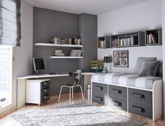 03 industrial vintage teen boy bedroom with a gorgeous comfy bed