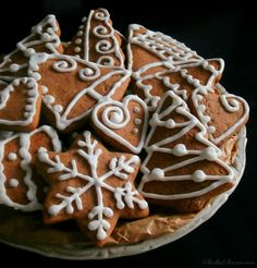Cinnabon, Food Decoration, Polish Recipes, Cookie Desserts, Christmas Treats, Cake Cookies, Gingerbread Cookies, Bakery, Sweet Treats