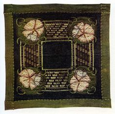Ann Macbeth. (Glasgow School) Embroidered table mat, c1906.