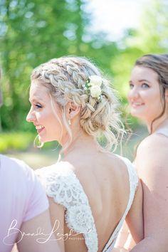 Chapel Hill Wedding Photographer, Boho bride, bridal hair, Gorgeous bride, lace wedding gown, fayetteville wedding venue, Cape Fear Botanical Garden Wedding, Bridal party photos, Wedding inspo, Bride photography, wedding photos