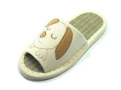 KNP Women Bamboo Cotton House Slippers with Dog Print Including Three Colors and Four Sizes 26001T * Continue to the product at the image link.